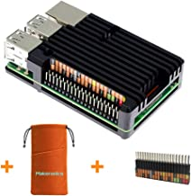 Makeronics Raspberry Pi Black Armor Case| Raspberry Pi Metal Case Without Fan |Aluminium Alloy Case for Raspberry Pi 3 B+ / Pi 2/3 Model B with Instruction |Support GPIO Rainbow Ribbon Cable