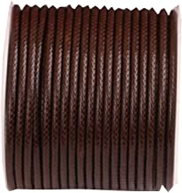 (2mm)32ft Round Leather String Cord Rope Spool for Necklace Bracelet Making - C