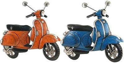 CAPRILO Placa de Pared Decorativa Vespa Retro (Color a Elegir) Azul o Naranja. Cuadros y Apliques. Adornos. 72 x 70 x 5 cm. (Naranja)