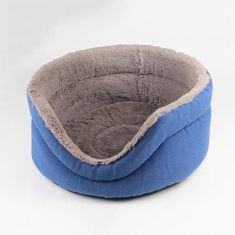 BiuTeFang Pet Bolster Dog Bed Comfort Cloth type warm round kennel cat nest