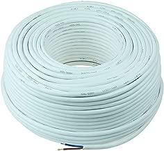 Plusieurs longueurs de coupe disponibles. Blanc rond Complet et personnalis/é C/âble flexible