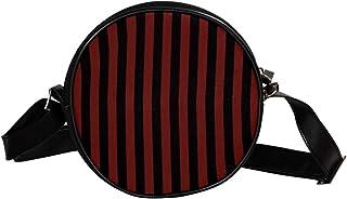 Coosun Schultertasche, Schultertasche, Handtasche, Handtasche, für Kinder und Damen, gestreift, Rot / Schwarz