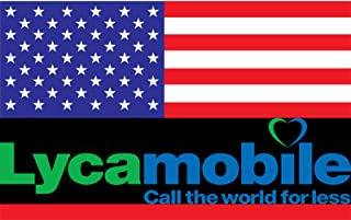 Prepaid Lycamobile SIM Card USA with 5 GB for 30 Days + 5GB for Another 30 Days, Unlimited Nationwide Talk&Text and Unlimited International Talk&Text to 75+ Countries