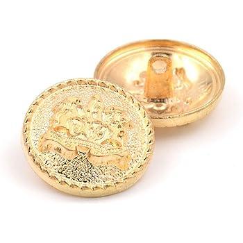 Metallo Bottoni Vergini 16mm 10stk DIY cucire nähbedarf