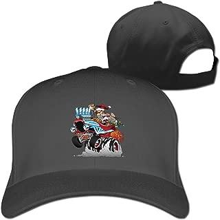 Christmas Santa Hot Rod Pure Color Baseball Caps Trucker Hat Unisex Black