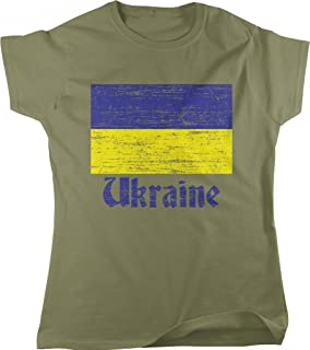 Flag of Ukraine, Support Ukraine, Pride Women's T-shirt, NOFO Clothing Co.