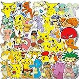 Tarrysky 100 pièces étanche Dessin animé Enfants Pokemon Jouet Mixte Autocollant...