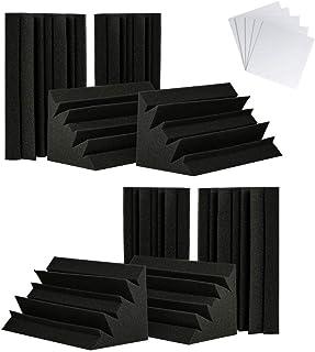 TRUE NORTH Trampas De Graves Con Adhesivo 8 Unidades (30x15x15cm) – Esquina De Trampas De Graves Acústica, Espuma De Esqui...