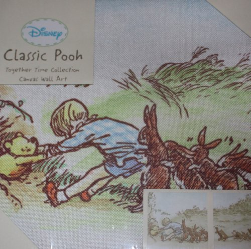Disney Classic Pooh Together Time 2 Piece Canvas Wall Art by Kidsline
