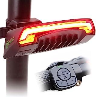 Meilan X5 - Luz trasera inteligente, USB recargable, control remoto inalámbrico, luces láser, para mototocicleta, biciclet...