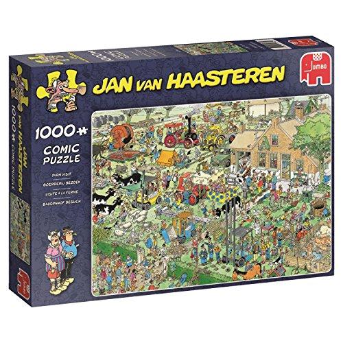 Jumbo 19063 Bauernhof Besuch, Puzzle, 1000 Teile