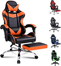 ALFORDSON Gaming Chair Racing Chair Executive Sport Office Chair with Footrest PU Leather Armrest Headrest Home Chair (Vog...