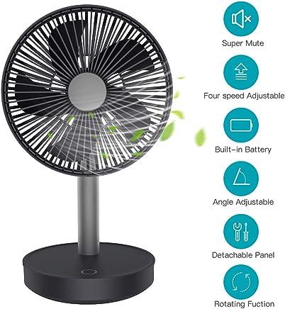 Automatischer Timer Kleiner Luftreiniger-Ventilator Mini L/üfter Mini Fan f/ür Kids Home B/üro Tischventilator MANLI Mini Silent USB-Ventilator mit HEPA-Filter 3-Gang Ionisator