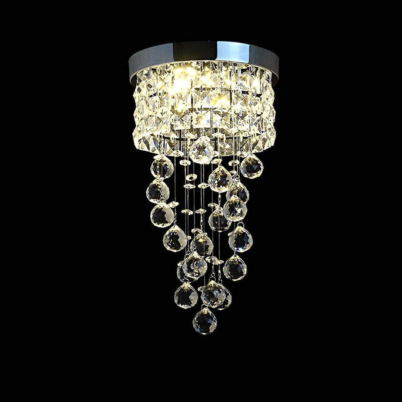 Plafonnier créatif JIAQI Moderne Creative Goutte de Pluie Cristal Plafonnier Salon Chambre éclairage d'escalier Cuisine Salle à hommeger Lumière de Couloir [Classe énergétique A ++] Plafonnier