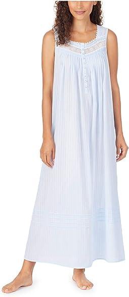 Cotton Dobby Stripe Woven Sleeveless Ballet Nightgown