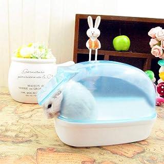Fashionwu ハムスターのバスルーム ハムスターのトイレ マウス ネズミ ブルー