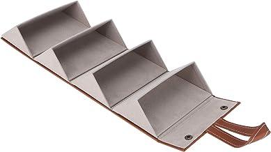 Sunglass Organizer, Portable Sunglass Collector Sterk hangend ontwerp voor glazen Zonnebrillen(17 * 13 * 12cm-brown)