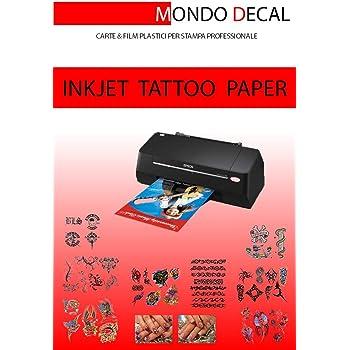 IMPRESION INKJET 1 KIT TAMA/ÑO A4 PAPEL PARA TATUAJE TEMPORAL