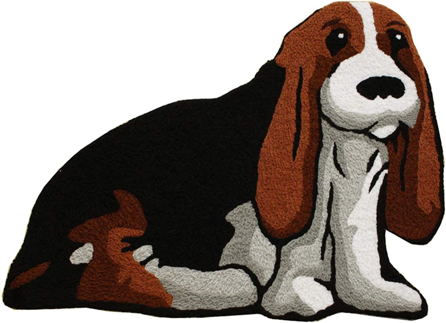 Cute Dog Shaped Bedroom Area Rug,Christmas Bedroom Non Slip Soft Doormats for Kitchen,32 by 24 Inch (Dog)