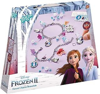 Zestaw bransoletek z zawieszkami Disney Frozen II: zrób sobie własne bransoletki z łańcuszkiem z zawieszką ze srebrnymi li...
