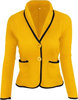 Ti caring Womens Slim Suits Coat Casual Polyester Long Sleeve Fashion Blazer Jacket Tops Outwear