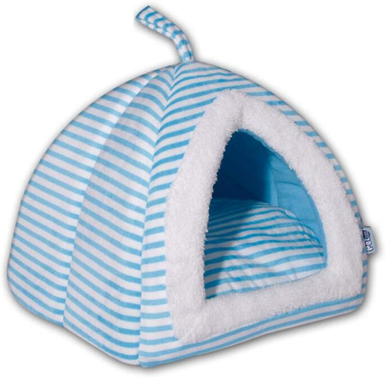 Pet Supplies Pet Fashion Nest Pet Kennel Mat Small Dog Cat Litter Tent,bluee,M
