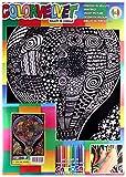 Colorvelvet - Quadro 35 x 47 in velluto da colorare - Mongolfiera - L134 -