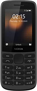Nokia 215 4G Dual SIM 4G Phone with Long Battery Life, Multiplayer Games, Wireless FM Radio and Durable Ergonomic Design –...