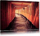 Gebetsgang Japanischer Tempel Format: 120x80 auf Leinwand,