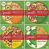 SPINATO'S Frozen Gluten Free Pizza, Healthy & Delicious, Plant Based, Broccoli Crust Pizza (10 inch...