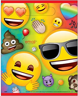 Unique Party 79443 - Rainbow Fun Emoji Party Bags, Pack of 8