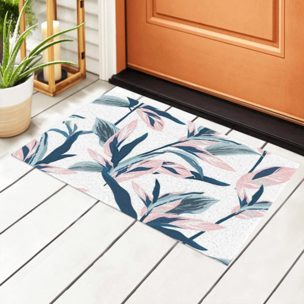 JIUCHUAN Max 67% OFF cheap Indoor Doormat Tropical Leaves Seamless On Mood Pastel
