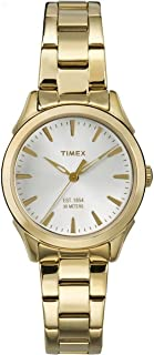 Timex Women's Quartz Watch with Dial Analogue Display and Two Tone Stainless Steel Bracelet