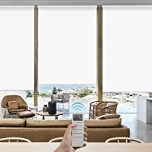 Graywind Motorized Roller Shades 100% Blackout Alexa Voice Control Cordless Window Blinds Thermal Insulated Window Shades ...