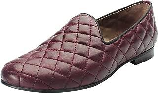 Bareskin Burgundy Color Hand Finished Genuine Leather Diamond Stitched Loafer Shoes for Men