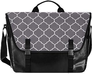 Bolso de lona para hombre y mujer, diseño de rayas, color gris, para mujer