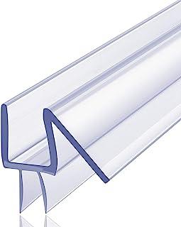 """Butecare Premium Frameless Shower Door Bottom Seal Strip - Glass Door Seal Sweep (3/8"""" x 39"""", Clear Vinyl)"""