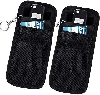 RFID Key Fob Protector, 2 Pack Faraday Bag Keyfobs Signal Blocking Bag Shielding Pouch Wallet Case