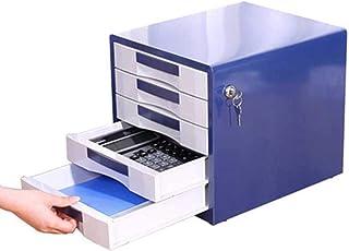 LIUYULONG Armoire de rangement de fichiers, armoire de bureau à cinq tiroirs, armoire de rangement avec serrure, organiseu...