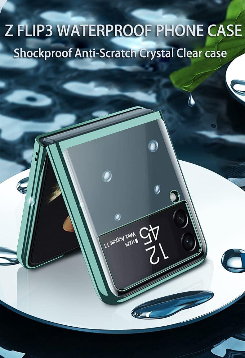 Case for Samsung Galaxy Z Flip 3 5G Phone Case Cover, Crystal Hard PC Bumper Galaxy Z Flip3 5G Crystal Case, Shockproof Anti-Scratch Transparent Covers for Galaxy Z Flip 3 5G, Lavender