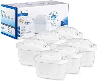 Modohe Cartuchos Filtrantes para el Agua, 6 Filtros de Agua, Compatible con BRITA MAXTRA+, Reducen la Cal y el Cloro, 6 Unidades, Tercera Generación, Blanco