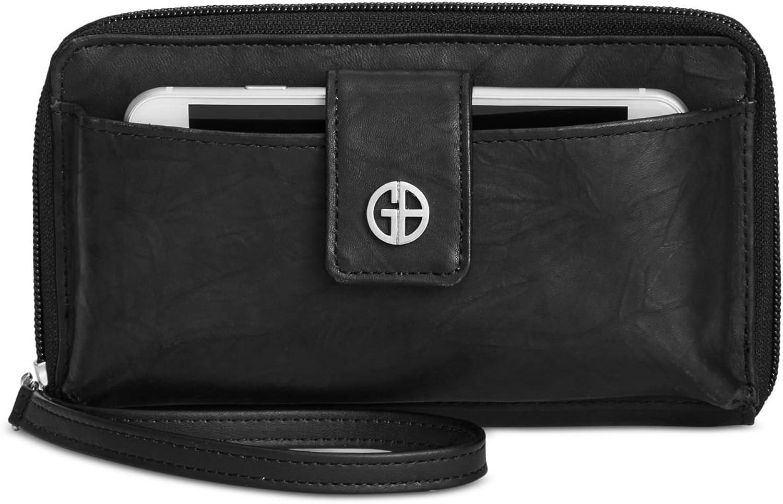 Giani Bernini Sandalwood Leather Tech Wristlet