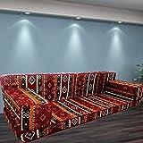 Spirit Home Interiors Bodensessel | Boden Sitz Sofa | Boden Couch | Ecksofa | Eckcouch | Schlafsofa | Orientalische sitzecke | Arabische Majlis / SHI_FS217