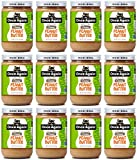 Once Again Organic Creamy Peanut Butter, 16oz - Lightly Salted, Unsweetened - USDA Organic, Gluten Free Certified, Vegan, Kosher - Glass Jar - Case of 12