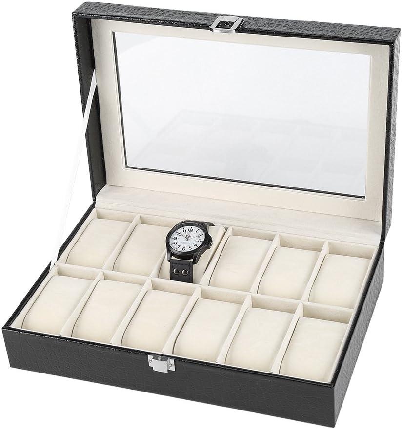 Yosoo Trust Trust 12 Soft Pillow Watch Jewelry Organizer Display Storage Box