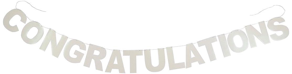 Glittered Congratulations Streamer Party Accessory (1 count) (1/Pkg)