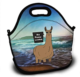 No Prob-Llama Lunch Bag Tote Lunchbox With Handle Strap