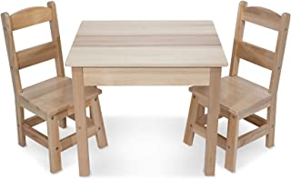 Melissa & Doug- Ensemble 3 pièces Table et chaises Couleur Bois, 12427