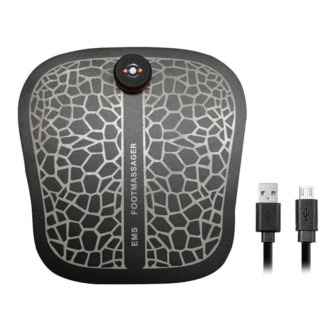 モデレータタービンとまり木フットフィット フットマッサージャー EMS 理学療法 USB充電振動 痛みを和らげる 疲労軽減する PUレザー フットパッド