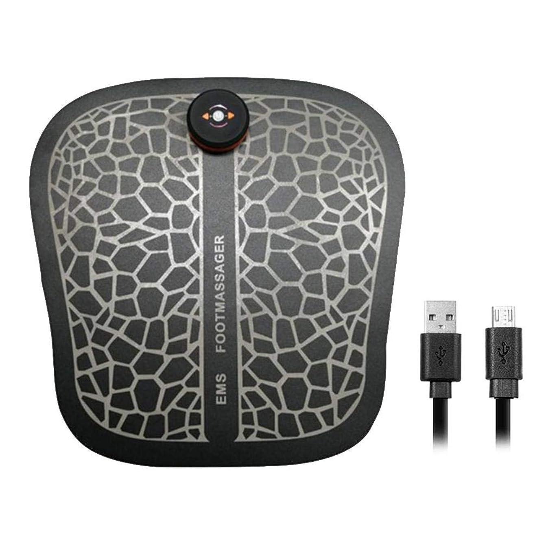 ストッキング同一性リルフットフィット フットマッサージャー EMS 理学療法 USB充電振動 痛みを和らげる 疲労軽減する PUレザー フットパッド
